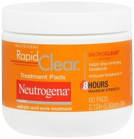 Neutrogena Rapid Clear Treatment Pads 60 Each [070501025901]
