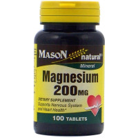 Mason Natural Magnesium 200 mg Tablets 100 ea [311845096111]