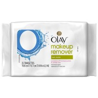 OLAY Makeup Remover Wet Cloths, Honeysuckle & White Tea 25 ea [075609194801]