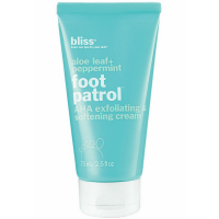 Bliss Foot Patrol AHA Exfoliating & Softening Cream, Aloe Leaf + Peppermint 2.50 oz [651043014921]