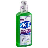 ACT Advanced Care Plaque Guard Mouthwash, Clean Mint 18 oz [041167095508]