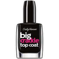 Sally Hansen Big Crackle Top Coat Nail Color, Black On 0.4 oz [074170421583]