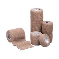 "Cohesive Bandage 3M Coban LF 1"" X 5 Yard Standard Compression Selfadherent Closure Tan NonSterile - 5 ea [707387508159]"