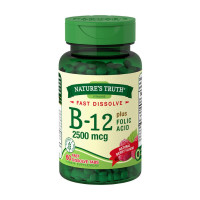 Nature's Truth B-12 Fast Dissolve Tablets, Berry,  60 ea [840093101778]