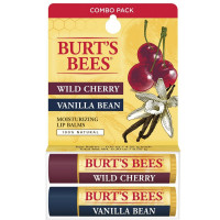 Burt's Bees Natural Moisturizing Lip Balm, Wild Cherry and Vanilla Bean 2 ea [792850892132]