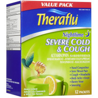 Theraflu Nighttime Severe Cold & Cough, Honey Lemon 12 ea [300677918128]
