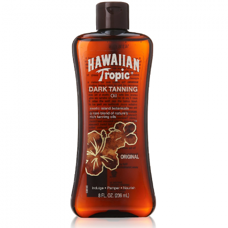 Hawaiian Tropic Dark Tanning Oil Original 8 oz [075486087432]
