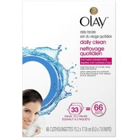 OLAY 4-in-1 Daily Facial Cloths, Normal, 66 ea [075609041297]