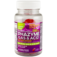 Phazyme Gas & Acid Maximum Strength Coated Chews, Cherry Flavor 24 ea [301320005073]