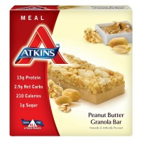 Atkins Meal Bar, 1.7 oz bars, Peanut Butter Granola 5 bars [637480045049]