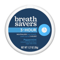 Breath Savers 3-Hour Peppermint, 8 Pack [989803448102]