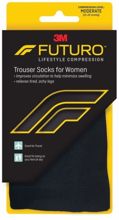 FUTURO Trouser Socks For Women Medium Black 1 Pair [051131215948]