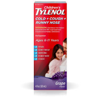 Children's TYLENOL Cold + Cough + Runny Nose Oral Suspension, Grape 4 oz [300450161048]