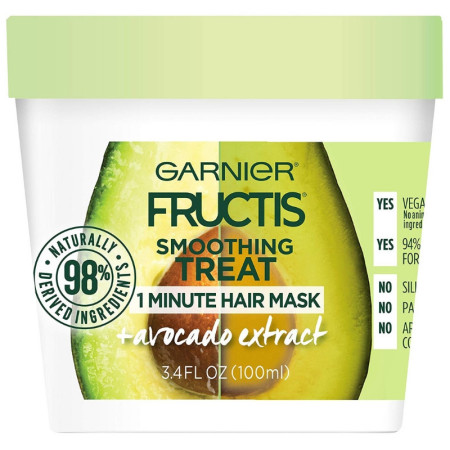 Garnier Fructis Smoothing Treat 1 Minute Hair Mask + Avocado Extract 3.4 oz [603084544714]