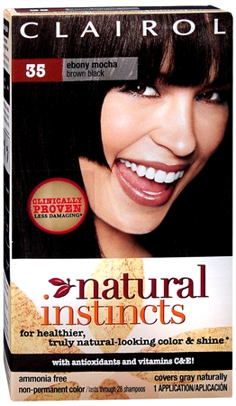 Clairol Natural Instincts Non-Permanent Haircolor Ebony Mocha 1 Each [381519032356]