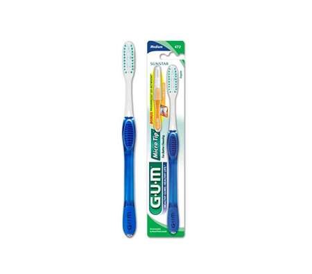 GUM Micro Tip Toothbrush Medium/Full 1 Each [070942127462]