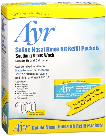 Ayr Sinus Rinse Refill Packets 100 Each [302250705156]
