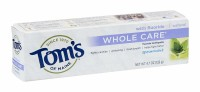 Tom's of Maine Whole Care Toothpaste with Fluoride, Spearmint4.7 oz [077326830888]