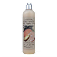 Farmstead Apothecary Body Wash, Grapefruit Almond 12 oz [859455006125]