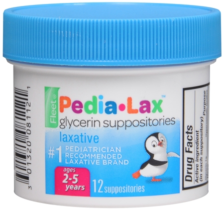Fleet Pedia-Lax Glycerin Suppositories 12 Each [301320081121]