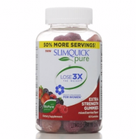 SLIMQUICK Pure Weight Loss, Gummies, Mixed Berries Flavor 60 ea [811568004467]