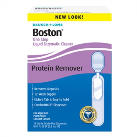 Bausch & Lomb Boston One Step Liquid Enzymatic Cleaner, Protein Remover 3.60 mL [047144056029]
