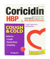 Coricidin HBP Antihistamine Cough & Cold Suppressant Tablets, 16 Tablets [300853601011]