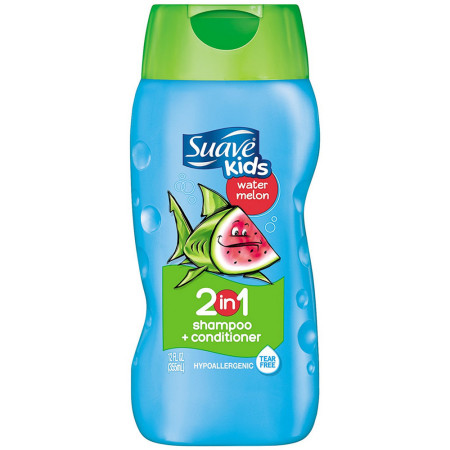 Suave Kids 2 in 1 Shampoo & Conditioner, Wild Watermelon 12 oz [079400821904]