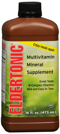 Eldertonic Multivitamin Mineral Supplement Liquid 16 oz [302590351167]