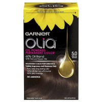 Garnier Olia Oil Powered Permanent Color, Medium Brown [5.0] 1 ea [603084293971]