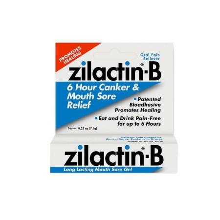 Zilactin-B Oral Pain Reliever, Long Lasting Mouth Sore Gel 0.25 oz [350486550323]