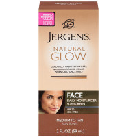 Jergens Natural Glow Daily Facial Moisturizer SPF 20, Medium To Tan Skin Tones 2 oz [019100138223]