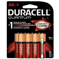 Duracell Quantum AA Alkaline Batteries With Duralock Power Preserve Technology 8 ea [041333662251]
