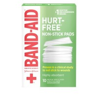 BAND-AID First Aid Non-Stick Pads, Medium, 2 in x 3 in, 10 ea [381371161423]