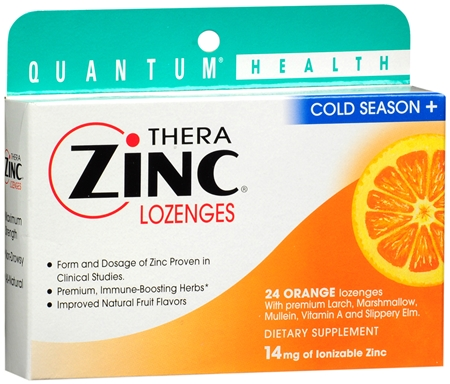 Quantum Thera Zinc Cold Season+ Lozenges Orange 24 Each [046985016001]