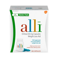 Alli  Orlistat 60mg Weight Loss Aid Starter Kit Capsules, 60 ea [353100748618]