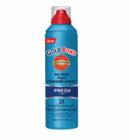 Gold Bond No Mess Foot Powder Spray, Fresh 7 oz [041167017234]