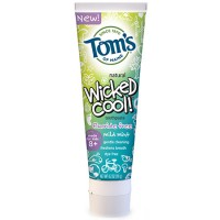 Tom's of Maine Wicked Cool! Toothpaste Fluoride Free, Mild Mint  4.2 oz [077326832615]