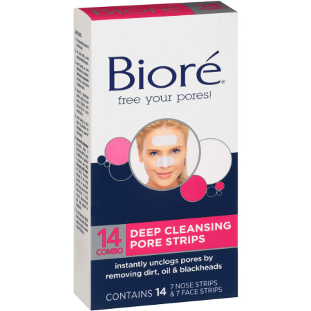 Biore Combo Pack Deep Cleansing Pore Strips Face/Nose 14 Each [019100031241]