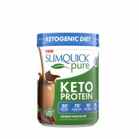 SLIMQUICK Pure Weight-Loss Protein Powder, Chocolate, 21.16 oz [811568009295]