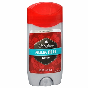 Old Spice Red Zone Deodorant Solid, Aqua Reef 3 oz [012044037522]