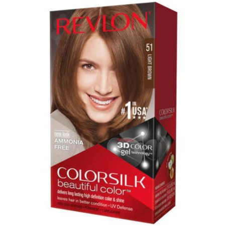 Revlon ColorSilk Hair Color, 51 Light Brown 1 ea [309978695516]