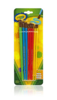 Crayola Art & Craft Paint Brush, Assorted Size & Colors 8 ea [071662635169]