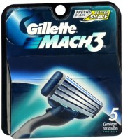 Gillette MACH3 Cartridges 5 Each [047400073715]