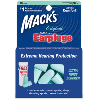 Mack's Safe Sound Soft Foam Earplugs 10 Pairs [033732000093]