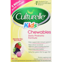 Culturelle Kids Chewables Probiotic Tablets, Bursting Berry Flavor 30 ea [049100400150]