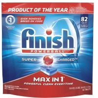 Finish Max In 1 Powerball, Dishwasher Detergent Tablets 82 ea [051700973316]