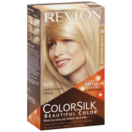 Revlon ColorSilk Beautiful Permanent Color, Ultra Light Natural Blonde 04 1 ea [309977326046]