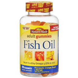 Nature made fish oil adult gummies pineapple orange for Nature made fish oil gummies