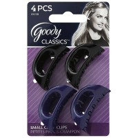 Goody Classic Small Curved Claw Clips, Colors May Vary 4 ea [041457092385]